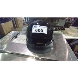 MAX BLACK MOTORCYCLE HELMET