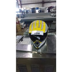 MAX YELLOW MOTORCROSS HELMET