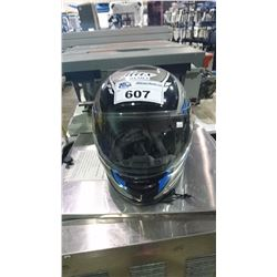 MAX BLUE/GREY FULL FACE MOTORCYCLE HELMET