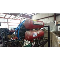 RED DUAL TANK AIR COMPRESSOR