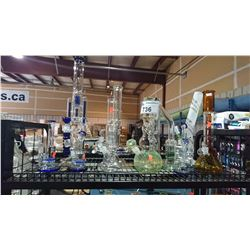 LOT OF ASSORTED GLASS BONGS