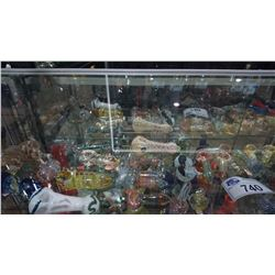 SHELF LOT OF ASSORTED GLASS PIPES