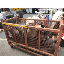 METAL MOBILE CART WITH HEAVY PIPING
