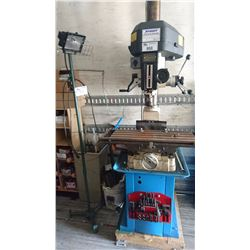 ADVANCE MODEL PF-30LH MILLING AND DRILLING MACHINE WITH LIGHT AND CONVEYOR