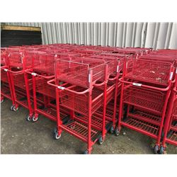 8 RED 2 TIER SHOPPING CARTS