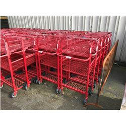 6 RED 2 TIER SHOPPING CARTS