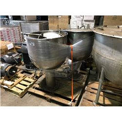 PALLET OF STAINLESS STEEL MELTING KETTLES