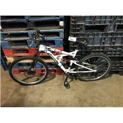 WHITE HUFFY FULL SUSPENSION MOUNTAIN BIKE