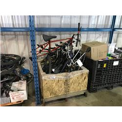 PALLET OF ASSORTED BIKE FRAMES AND PARTS