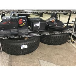 TIRES, NAILS AND TIRE RACK