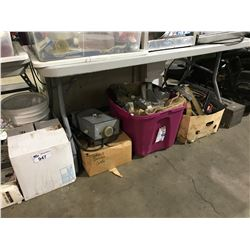 LARGE LOT OF ASSORTED TOOLS, JACKS AND GAME CARTS