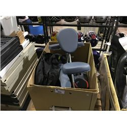 EXERCISE EQUIPMENT PARTS AND MASSAGE CHAIR