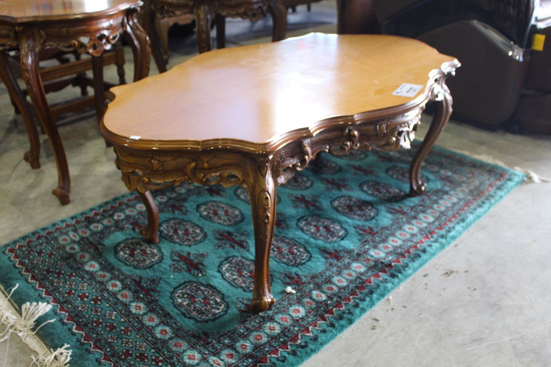 2 Piece Carved Coffee Table Set Able Auctions