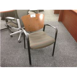 HAWORTH IMPROV CHERRY BACK STACKABLE CLIENT CHAIR