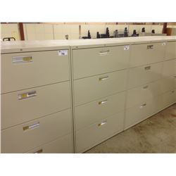 HON BEIGE 4 DRAWER LATERAL FILE CABINET