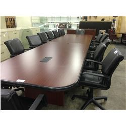 MAHOGANY 18' CUSTOM BOARDROOM TABLE