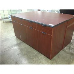 "MAHOGANY 6' MULTI DRAWER 42"" HIGH CREDENZA"