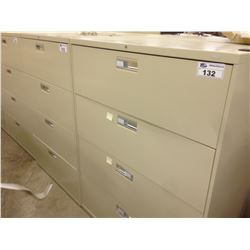 BEIGE HON 4 DRAWER LATERAL FILE CABINET