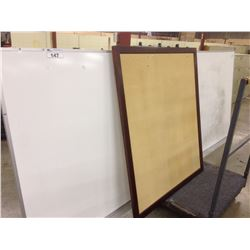 4X10' WHITE BOARD AND 4X4' TACK BOARD