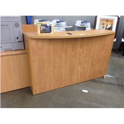MAPLE REVERSIBLE L SHAPED RECEPTION DESK