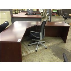 DARK CHERRY 6X7' CORNER COMPUTER DESK
