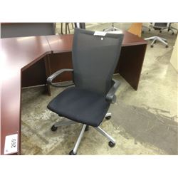 HAWORTH X99 BLACK MESH BACK FULLY ADJUSTABLE TASK LOOP ARM CHAIR