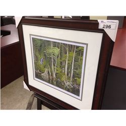 "AJ CASSON ""BLUE HERON"" 201/950 LIMITED EDITION PRINT"