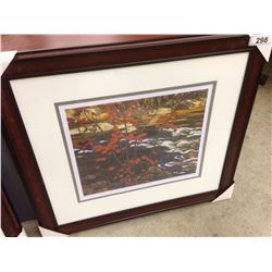 """AY JACKSON """"THE RED MAPLE"""" 201/950 LIMITED EDITION PRINT"""