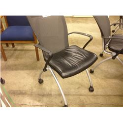 HAWORTH X99 MESH BACK LEATHER NESTING CHAIR