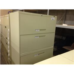 BEIGE 5 DRAWER LATERAL FILE CABINET