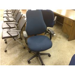 BLUE FULLY ADJUSTABLE TASK CHAIR