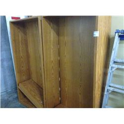 LOT OF 6 MISC. BOOK CASES AND SHELVES