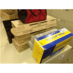 LOT OF TONER CARTRIDGES AND MISC.