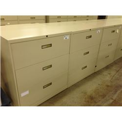 HON BEIGE 3 DRAWER STEEL CASE FILE CABINET