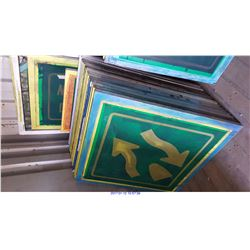 32 ALUMINUM SILK SCREEN PRINT FRAMES