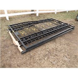 2 pc 20 ft Wrought Iron Gate - new