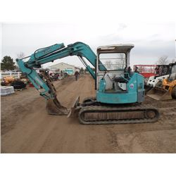Kubota RX301 mini excavator-stickers in foreign language