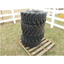 Qty 4  12/16.5 12 ply skidloader tires -SOLD X 4