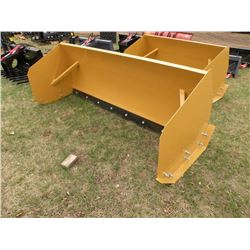8 ft Snowpusher for skidloader w/steel cutting edge  -New
