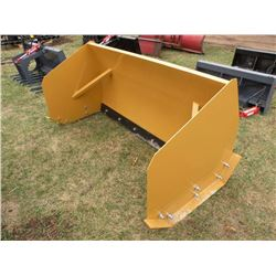 6ft Snowpusher for skidloader w/steel cutting edge -New