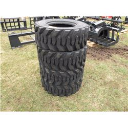 Qty 4  12/16.5 12 ply skidloader tires -Sold x 4, New