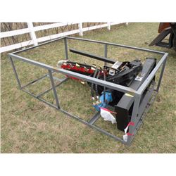 Trencher attachment for skid loader - new