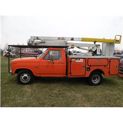 1986 Ford F-350 bucket truck -City Owned SN#-2FDKF37H2GCA76080