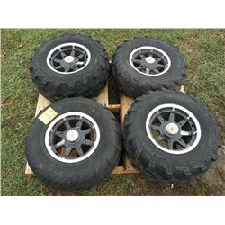 Qty 4 Polaris ATV rims & tires