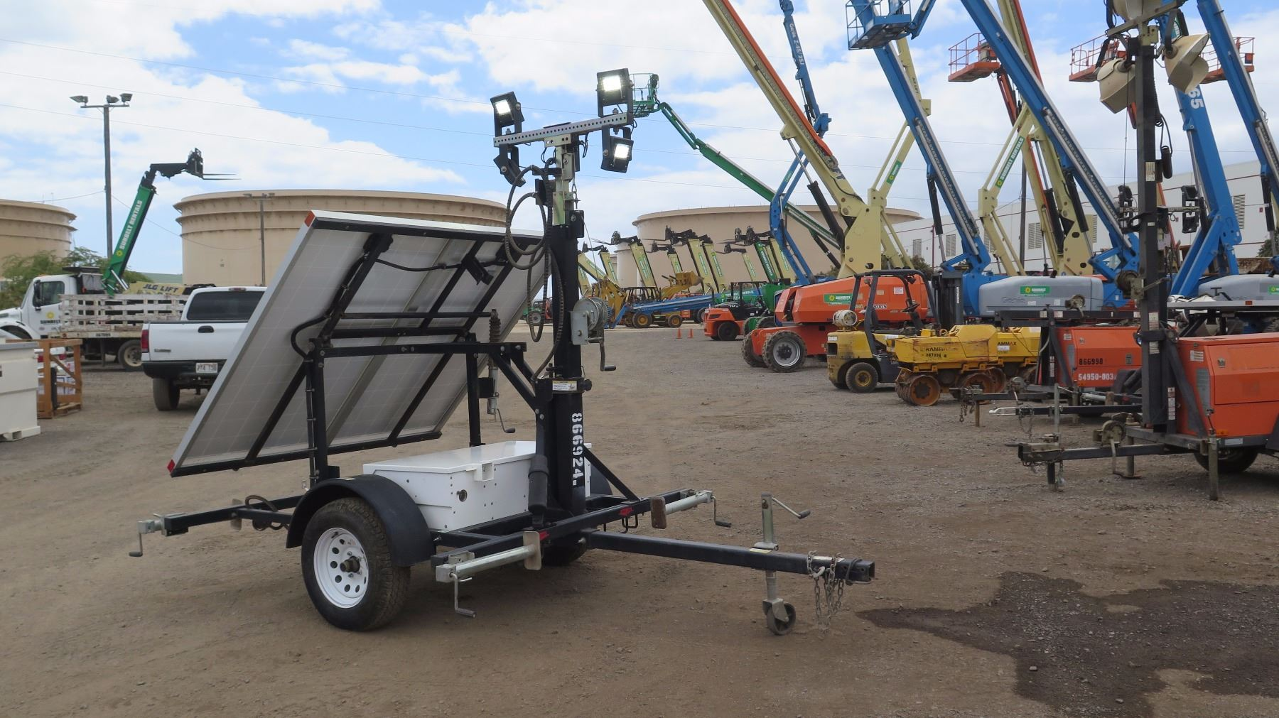 2012 Wanco Wlts Mma4 Solar Light Tower Charges All Day