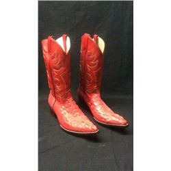 Red Hornback Boots 9 1/2