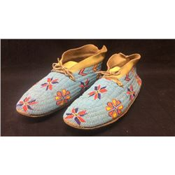 1950's Arapaho Fully Beaded Moccasins