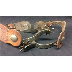 Crockett Silver Mounted Ladies Spurs