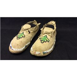 Comanche Water Bird Design Moccasins 1930's