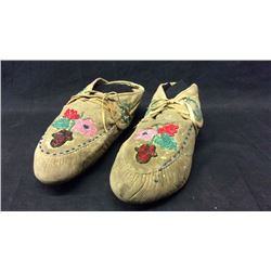 Mohican Woodland Beaded Moccasins 1910